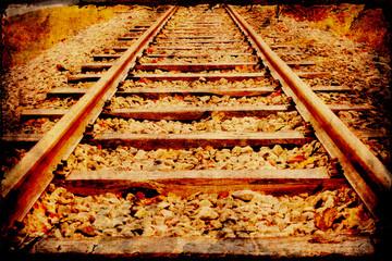 Retroplakat - Bahnstrecke