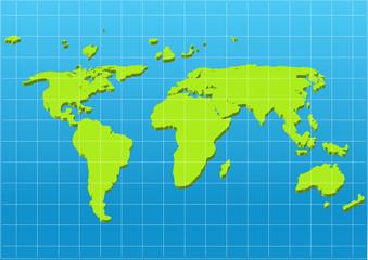 Keuken foto achterwand Wereldkaart map of the world,vector design