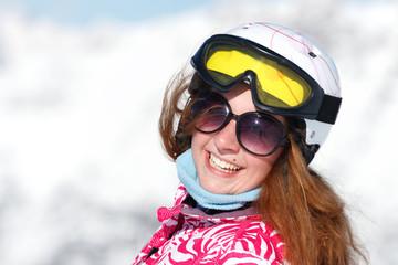 sourire adolescente ski