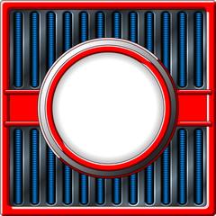 Chrome retro frame