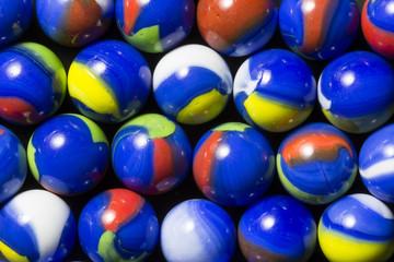 Blue Swirl Marbles