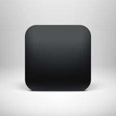 Technology Black Blank App Icon Template