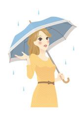 雨傘を持つ女性