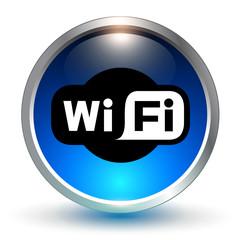 wifi blue symbol, icon.