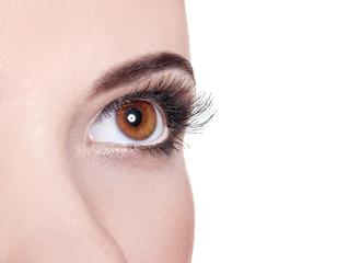 beautiful girl eye. eyelashes