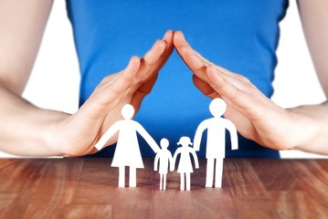 Wall Mural - family with house of hands