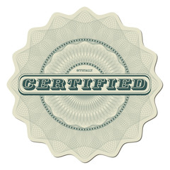 Certified - highly detailed guilloche design element
