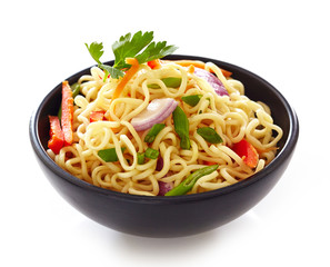bowl of chinese noodles with vegetables