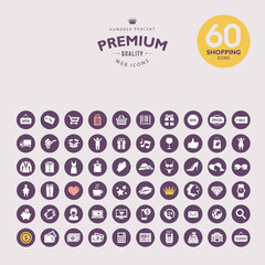 Set of premium shopping icons