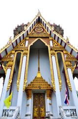 Thai temple is tall, vertical image