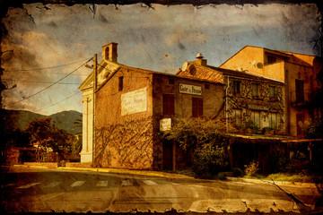 Papiers peints Affiche vintage Retroplakat - korsisches Restaurant