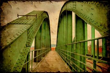 Retroplakat - Brücke