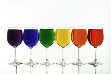 The Diversity Rainbow Caputred in Wine Glasses