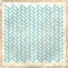 Autocollant pour porte ZigZag Abstract retro background