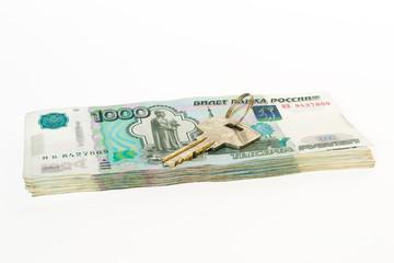 Key on ruble money