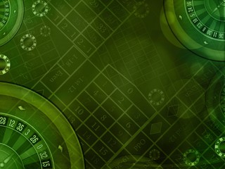 casino green background