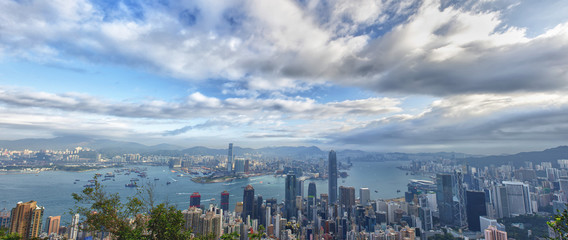 Hong Kong China Panorama view from the Peak