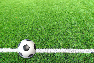 Soccer football field stadium grass line ball background texture
