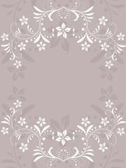 floral, flora, ornament, abstrakt, rahmen, deko, muster, vektor