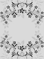 abstrakt, floral, blatt, blätter,  ornament, Silhouette, vektor