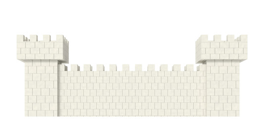 wall on a white background