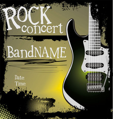 Grunge rock music background
