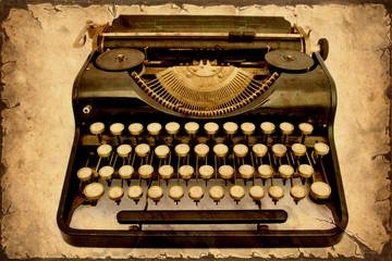 Papiers peints Affiche vintage Retroplakat - Alte Schreibmaschine III