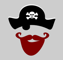 pirate with red beard