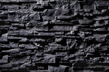 Texture of grey stone wall
