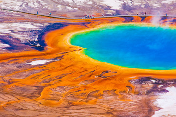 Photo sur Plexiglas Parc Naturel Grand Prismatic Spring in Yellowstone National Park