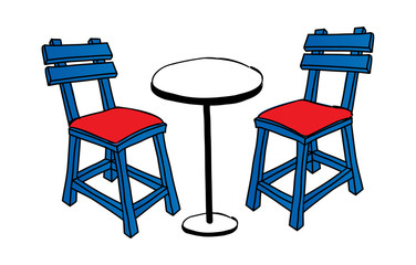 A table with chairs