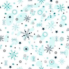 snow seamless pattern