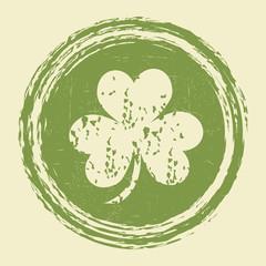 grunge clover leaf stamp