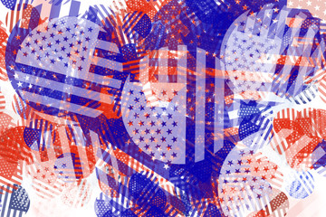 Abstract USA American flag pattern background