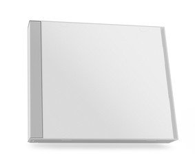 collection of various blank white paper cd box on white