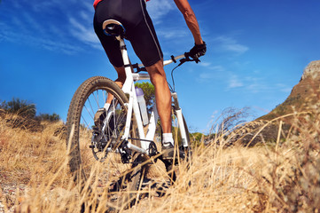 Fototapete - trail bike riding