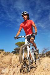 Wall Mural - trail bike riding