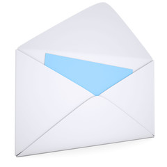 Open white envelope
