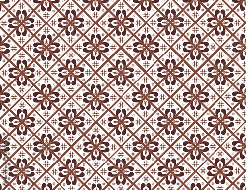 Indonesian Batik Pattern Stock Image And Royaltyfree Vector Files Mesmerizing Batik Pattern