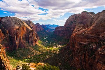Great Landscape in Zion National Park,Utah,USA