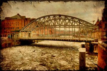 Retroplakat - Hamburger Brücke