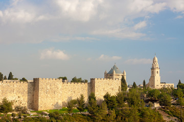 Ancient walls and temples of Jerusalem
