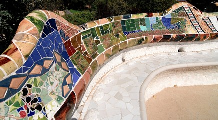 BARCELONA - MOSAIC IN PARK GUELL