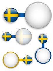 Vector - Sweden Country Set of Banners