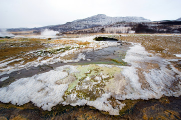 Geothermal frozen water