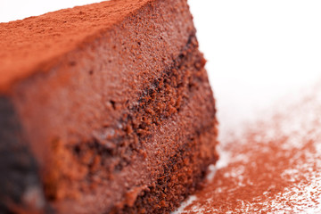 Cross section of cacao's cake
