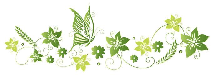 Frühling Frame Blätter Laub Ranke Grüntöne Stockfotos Und