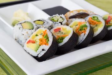 vegetarian sushis