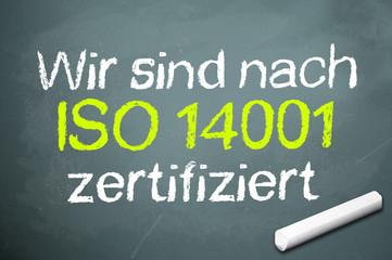 Kreidetafel mit ISO 14001