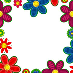 Floral ornament border